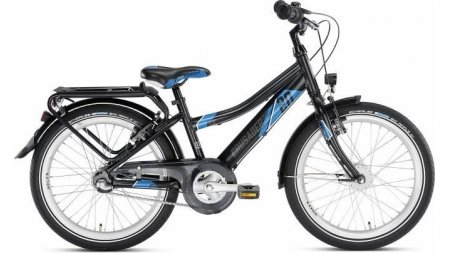 Vélo garçon 20 pouces 3 vitesses à rétropédalage (taille à partir de 120 cm)