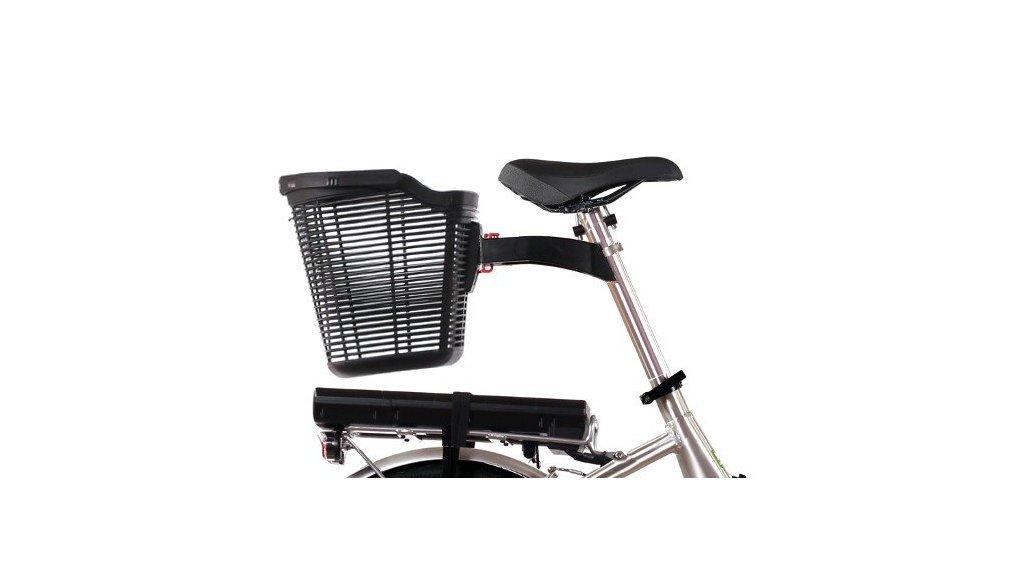 Panier avec fixation sur tige de selle de vélo classique ou pliant