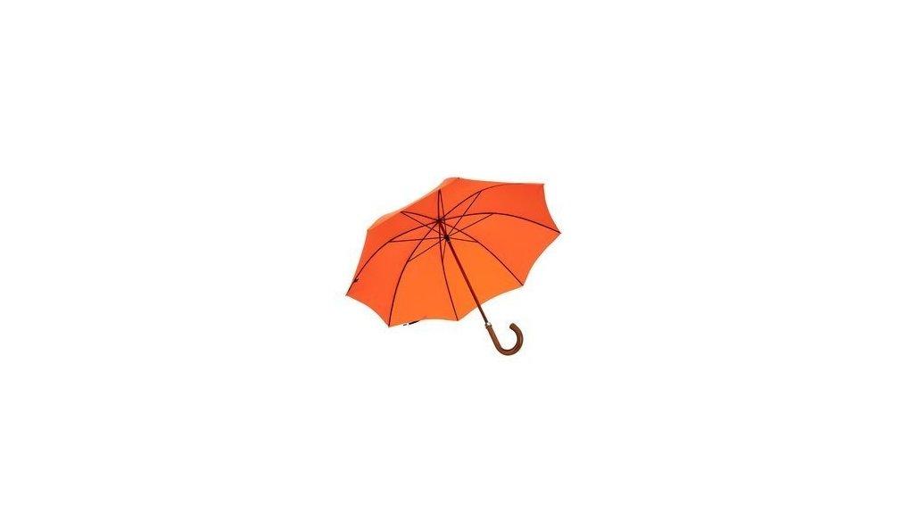 Porte-parapluie et parapluie orange