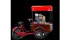 Triporteur vente ambulante taille M monovitesse avec options couvercle et aménagement café