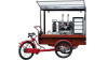 Triporteur café XL avec options partie rabattable et vitrine réfrigérée