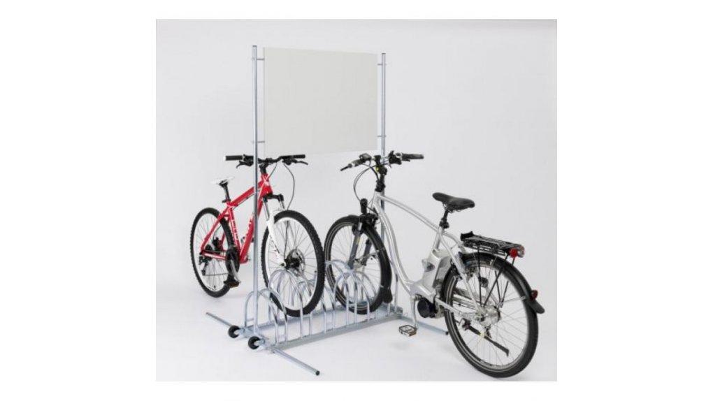 Parking à vélo unilatéral 3 places avec support publicitaire