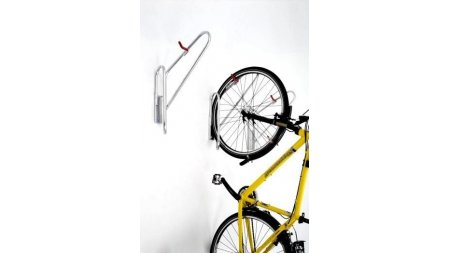 Support de vélo mural en acier zingué