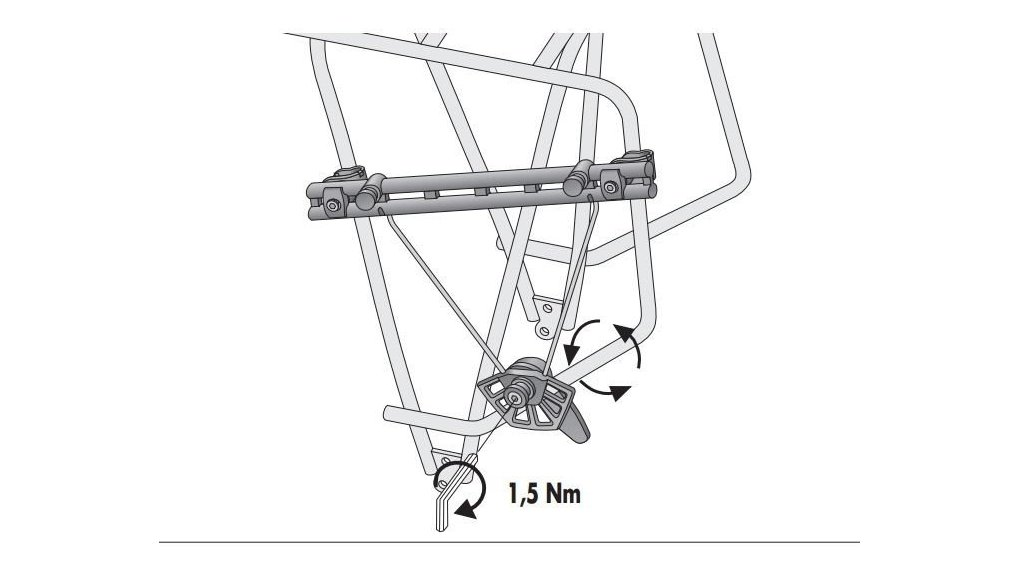 support sacoche amovible porte-bagage electrique