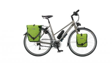 Vélo cyclotourisme MC Summit cadre trapèze sacoche Ortlieb selle cuir Brooks
