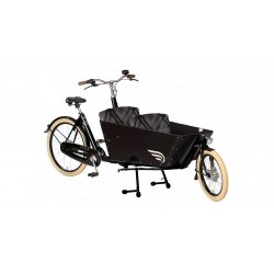 Biporteur Amsterdamer transport enfant avec option selle cuir Brooks