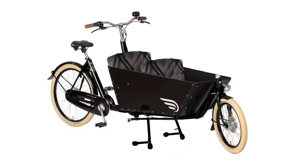 Biporteur Amsterdam Air transport enfant avec option selle cuir Brooks