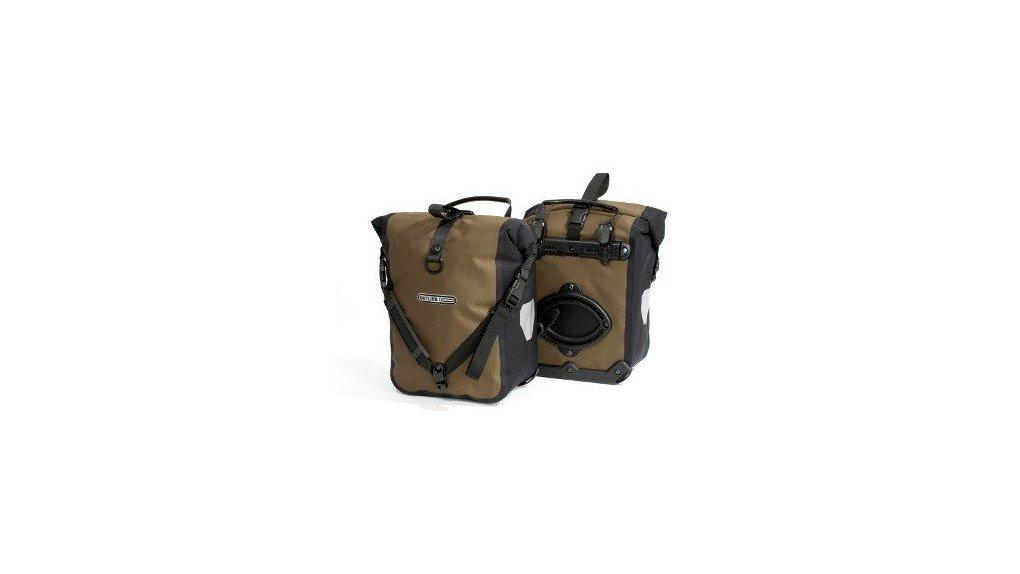 Deux sacoches avant Ortlieb Roller Plus noir et noisette ( 2014)