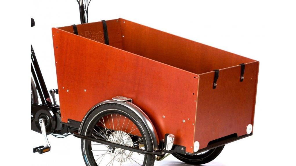 Coffre miel assemblé, avec plancher, pour triporteur Bakfiets.nl large