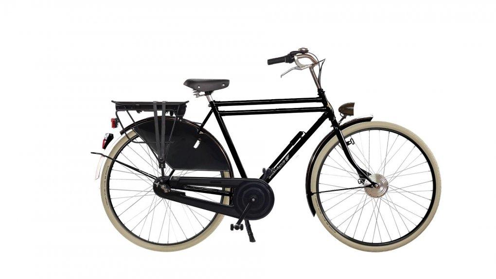 Vélo électrique hollandais Amsterdam Air Legend Exclusive, batterie avant