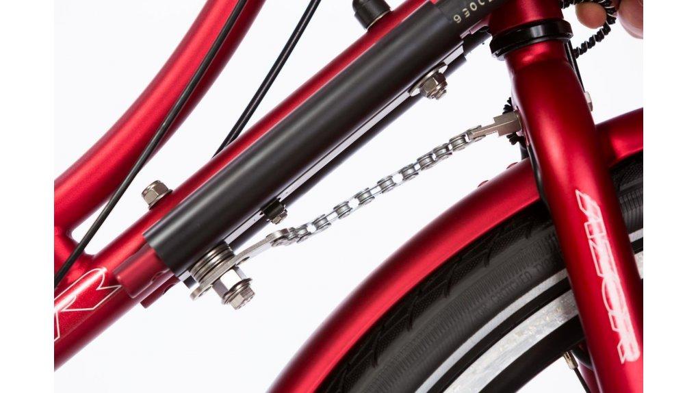 Rotation limitée à 180° pour éviter la chute du vélo à l'arrêt