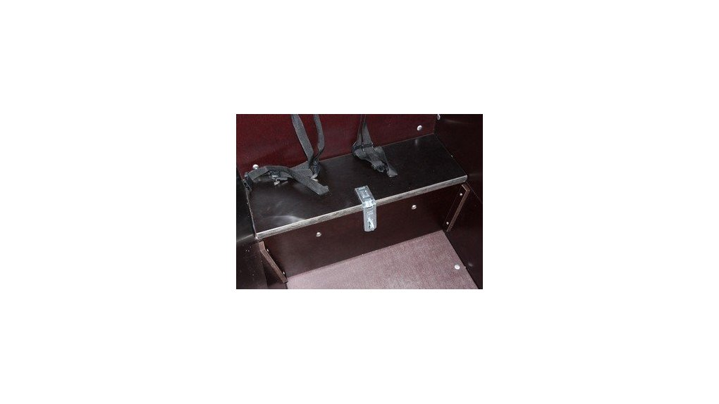Coffre sous banquette compatible siège coque