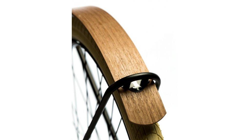 Garde-boues en chêne ( collés sur un support aluminium, vernis mat)