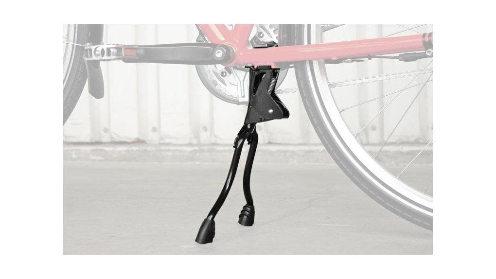 Béquille double avec ressort de direction pour vélo porteur