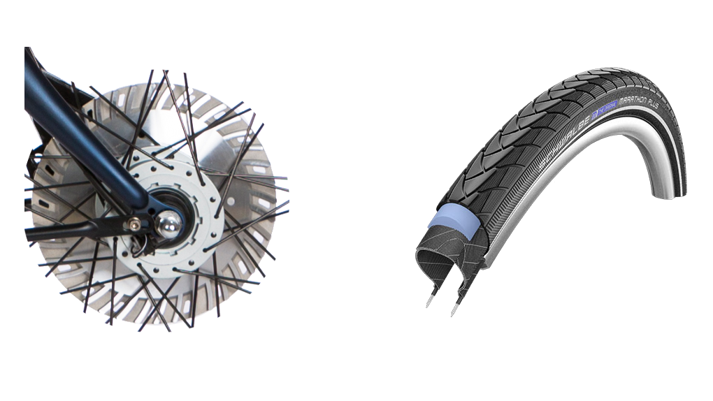 Pneus increvables Marathon Plus & frein(s) 30% plus puissant