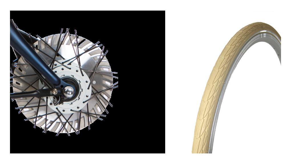Pneus Delta Cruiser crème, frein(s) 30% plus puissant
