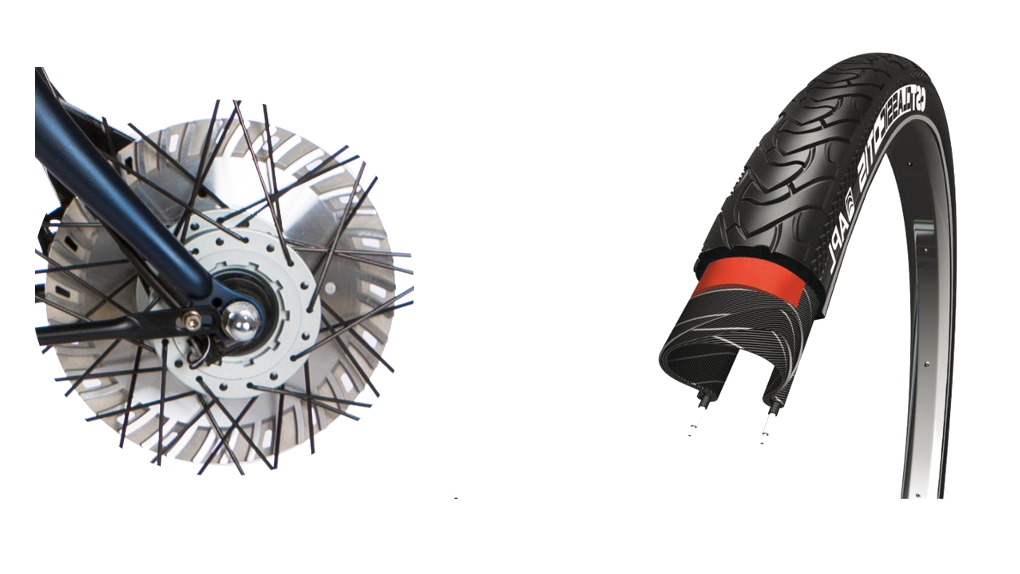 Pneus CST renforcés, frein(s) 30% plus puissant
