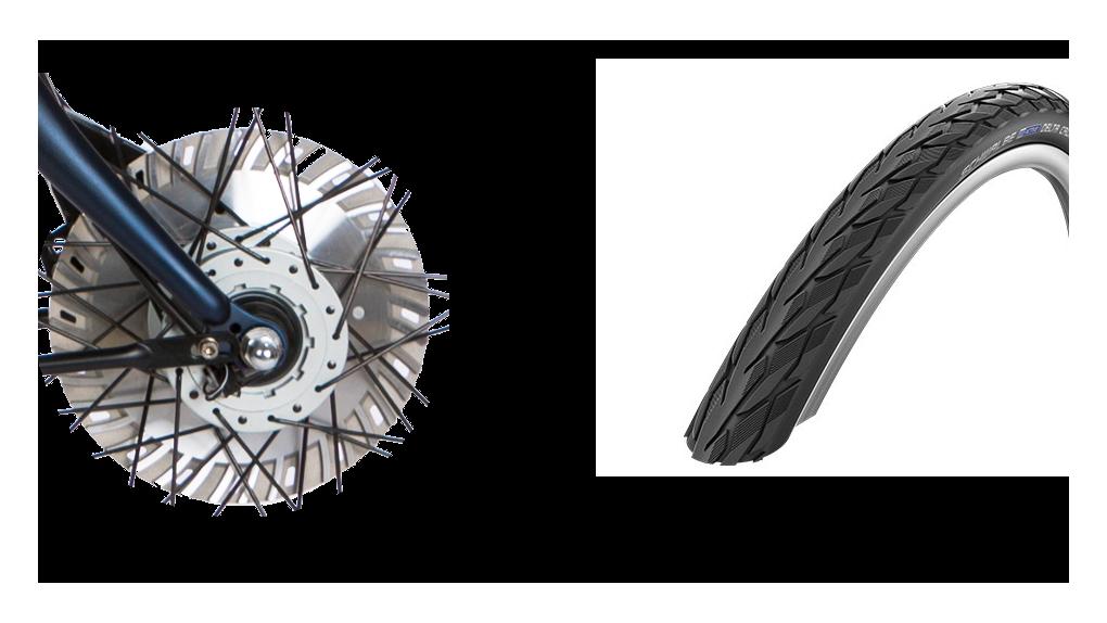 Pneus Delta Cruiser noir, frein(s) 30% plus puissant