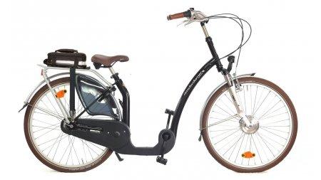 Vélo électrique LI à enjambement bas et pédalier décalé