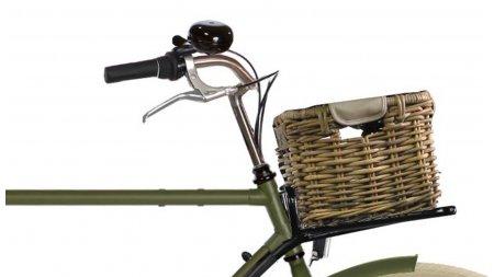 Petite malle en rotin sans couvercle,pour vélo avec porte-bagage avant
