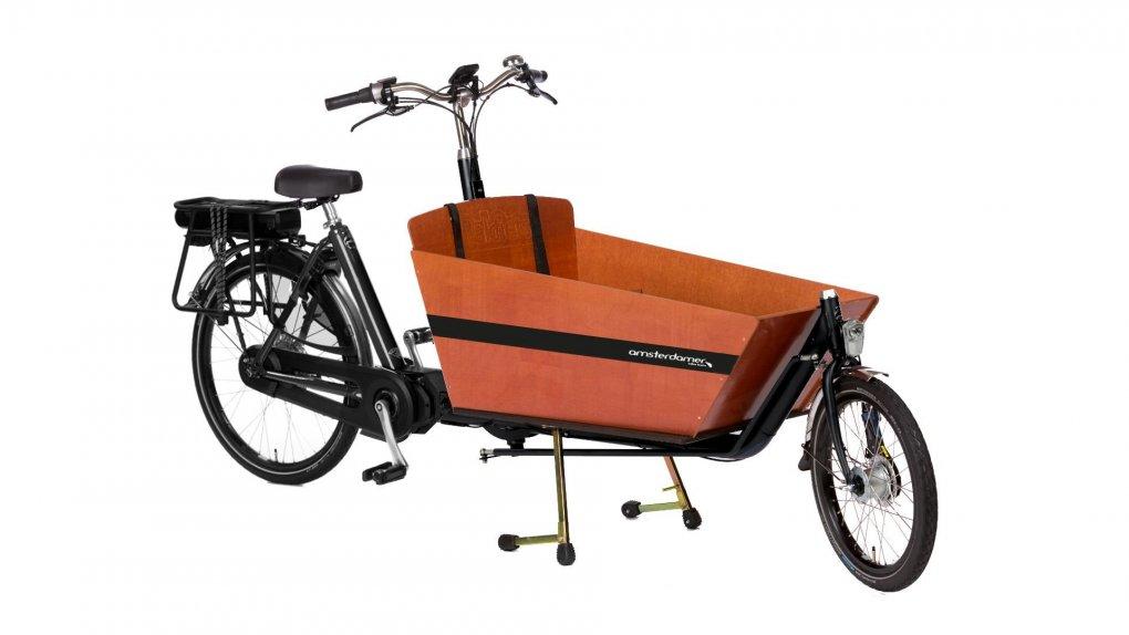 Configurateur du biporteur long Classic Bakfiets.nl avec moteur pédalier Shimano