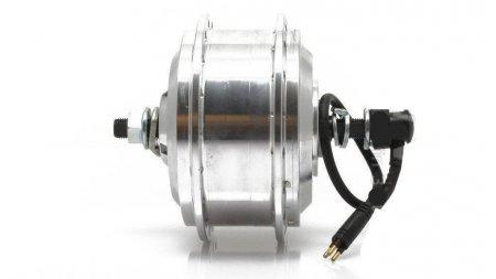Roue avec moteur avant 190 rpm pour frein V-Brake ou à disque, jante Sputnik 28 pouces 36 rayons