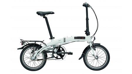 Vélo pliant Dahon Curve i3 gris avec roues de 16 pouces et potence réglable