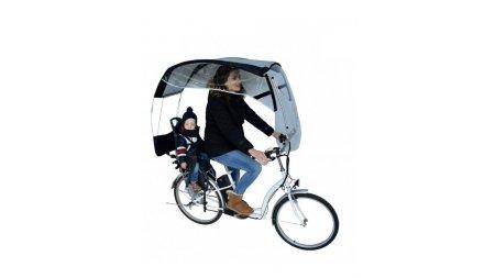 Protection pluie pour le cycliste avec un siège enfant