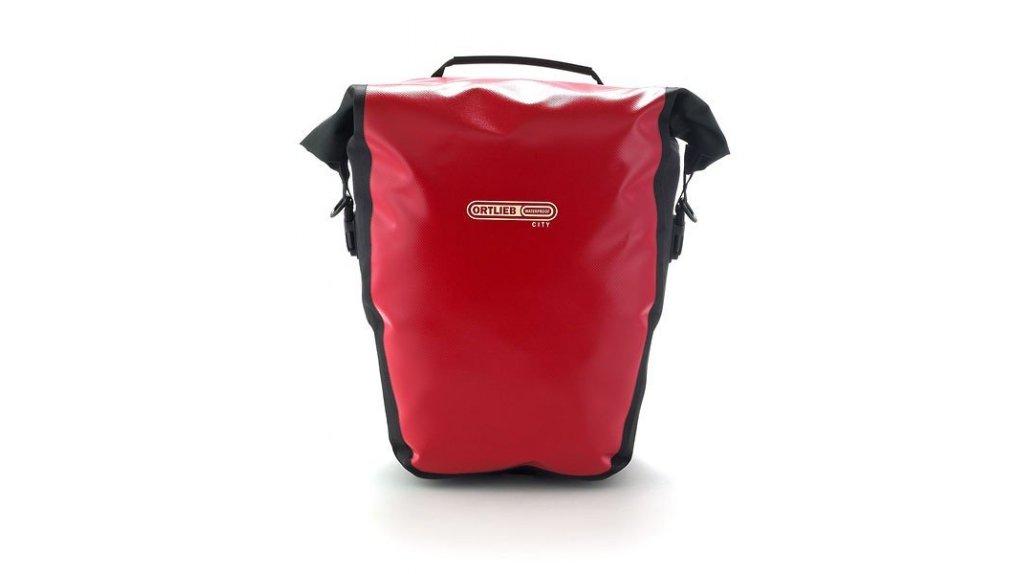 Deux sacoches amovibles 100% étanche Ortlieb City,rouge