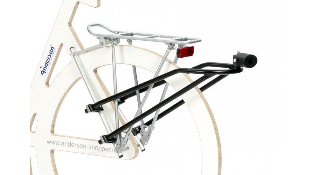 Fixation pour chariot Andersen,aux haubans d'un vélo,avec serrure