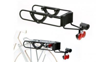 Fixation chariot Andersen à un porte-bagage de vélo électrique