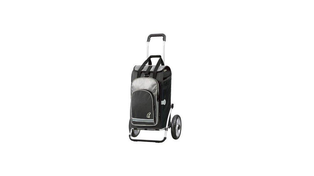 Chariot avec sac isotherme, fixation haubans, noir