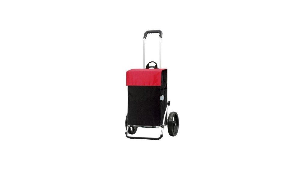 Chariot de course, fixation haubans, noir et rouge