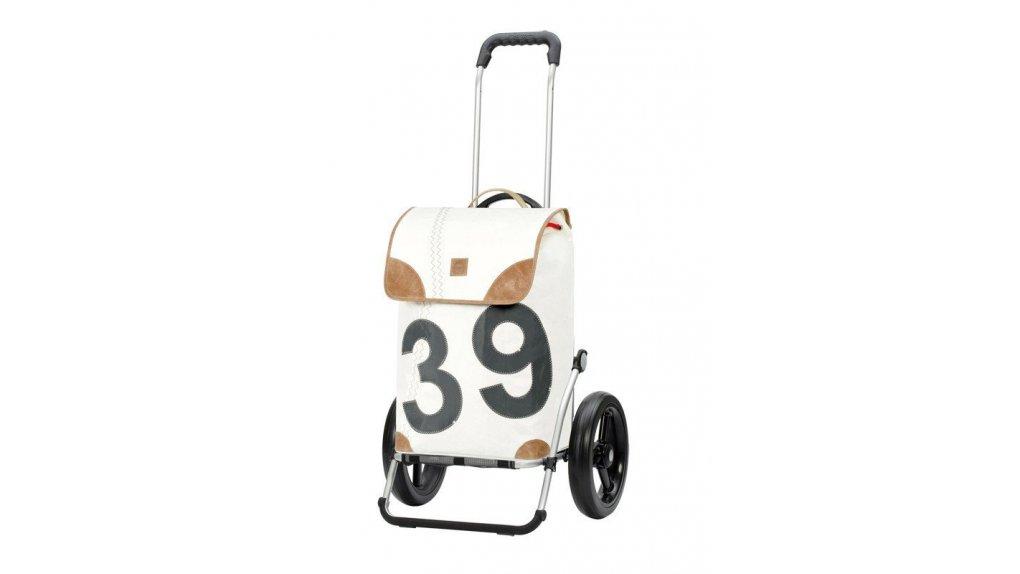 Chariot de course Andersen Lee crème avec fixation au porte-bagage