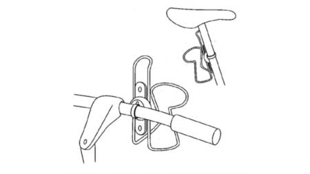 Fixation pour porte-bidon sur vélo