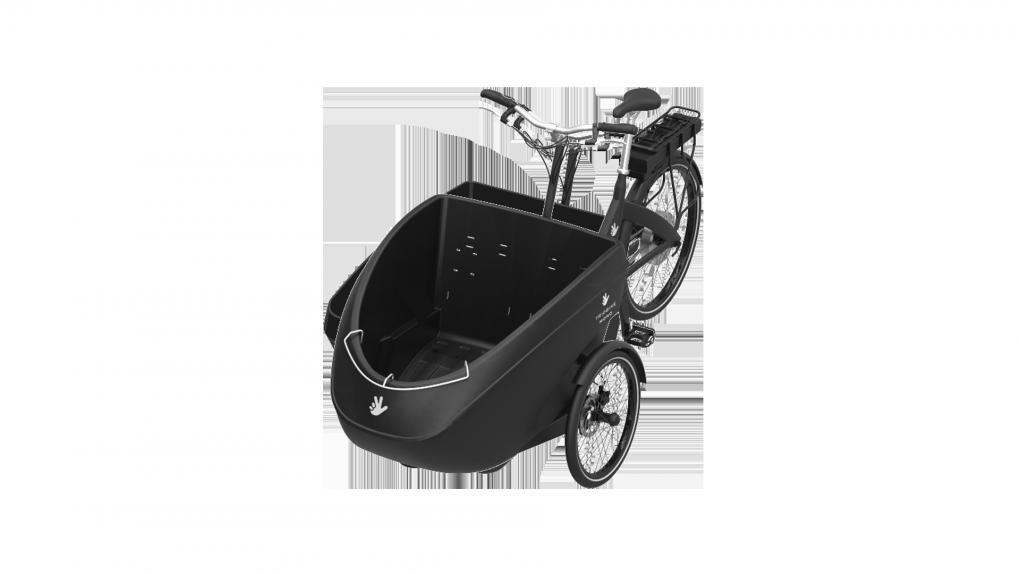 Triporteur électrique Triobike Mono, moteur arrière