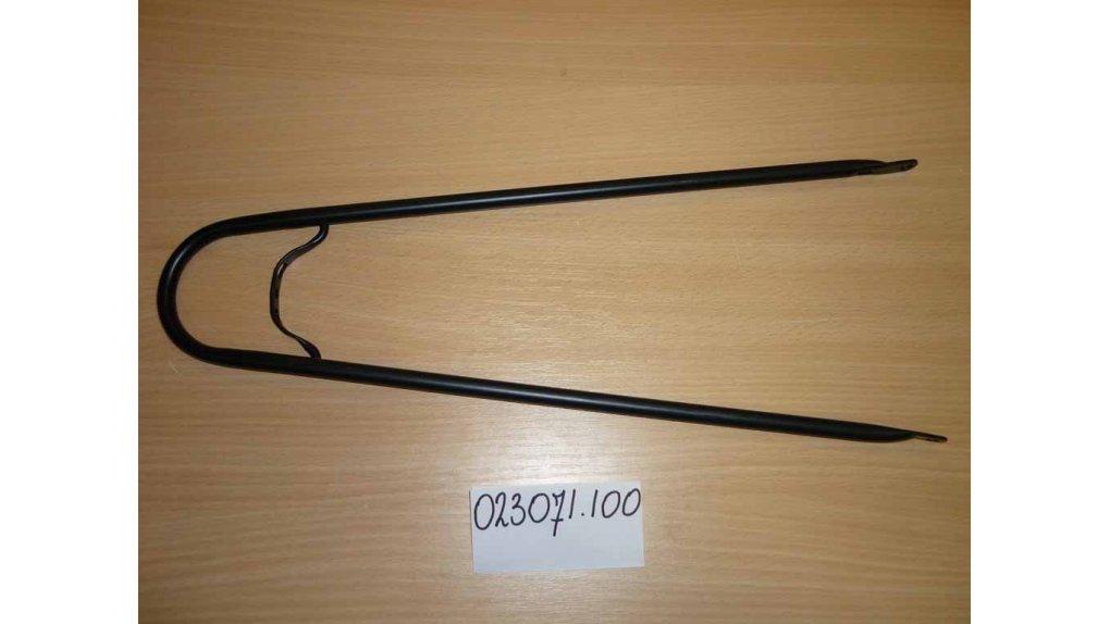Support de garde-boue arrière 63 ou 65 mm ou bois noir mat