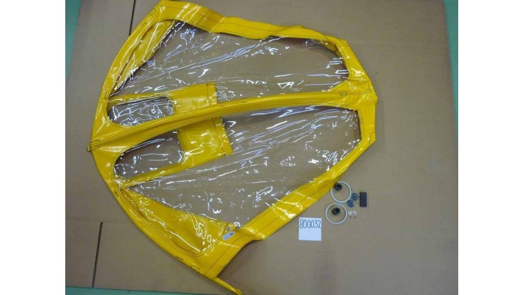 Protection pluie enfant pour biporteur Bakfiets.nl long,coloris jaune