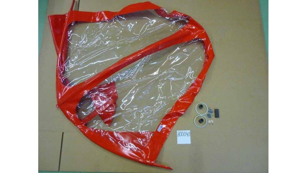 Protection pluie enfant pour biporteur Bakfiets.nl long,coloris rouge