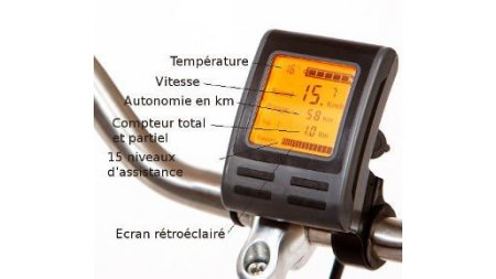 Console grand écran LCD assistance Easy Power ( vélo avant avril 2016)