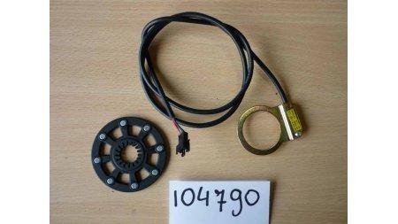 Capteur de pédalage V7 rouge 90 cm avec disque 8 aimants