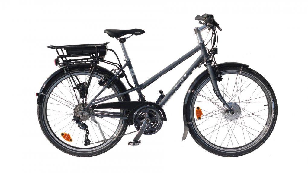 vélo électrique Quartz Trapez gris ardoise