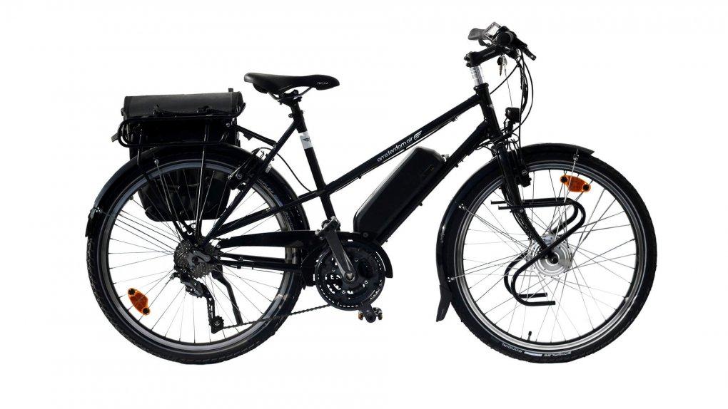 vélo électrique Quartz Trapez noir mat
