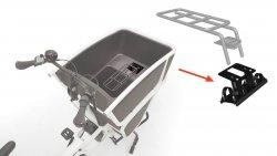 Support de montage pour adaptateurs de sièges caisse (biporteur électrique Urban Arrow Shorty)