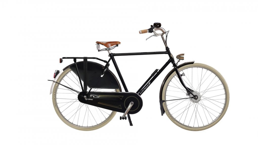vélo hollandais Amsterdam Air air park exclusive noir brillant anc selle Brooks B66 miel