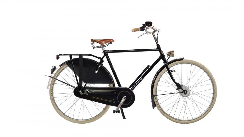 vélo hollandais amsterdamer air park exclusive noir brillant anc selle Brooks B66 miel
