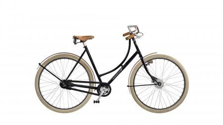 vélo vintage sport cadre bas garde-boue chêne