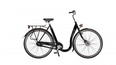 Vélo hollandais avec un seuil d'enjambement très bas pour flexion limitee