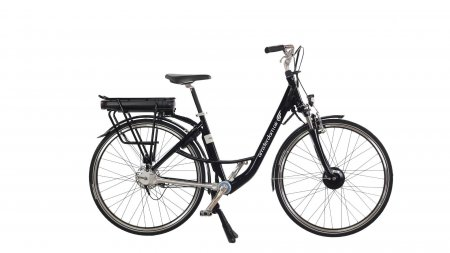 Vélo électrique à cardan avec cadre mixte pour taille dés 150 cm - photographié avec différentes options