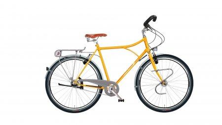 vélo ville et randonnée Diamond High,cadre vert anglais, selle MG miel